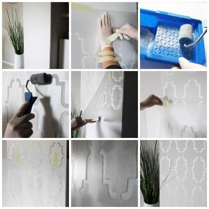 Malowanie wzoru na ścianie