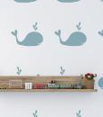 Whales – szablon malarski dla dzieci