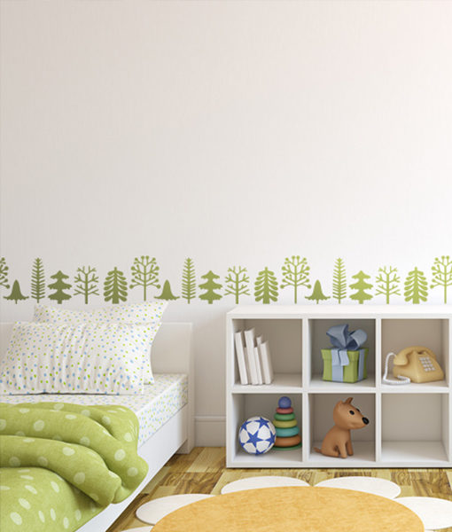 drzewa malowane na ścianie
