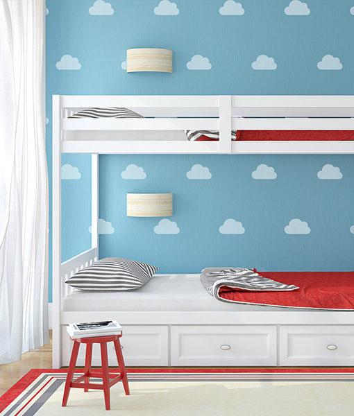 szablon chmury na ścianie