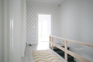 houseloves ściana pomalowana szablonem