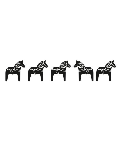 dala-horse-border-bw