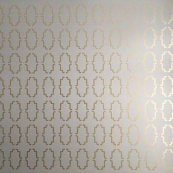 Marokański wzór na ścianie malowany szablonem Stencils