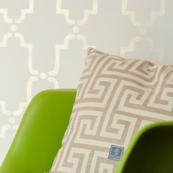 marokański szablon z połyskiem metalicznym DIY
