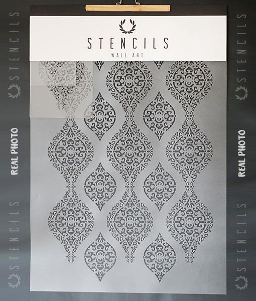 damascus-szablon-damaszek-ornament-na-ścianę