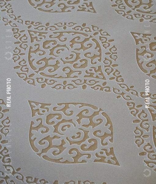 damascus-szablon-damaszek-ornament-na-ścianę2