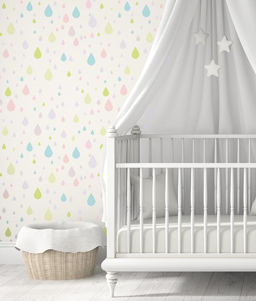 rain-desz krople szablon do pokoju dziecka