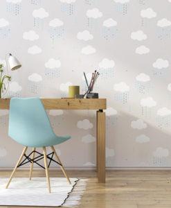 szablon-malarski-na-ścianę-chmurka-chm,urki-kropla-kropelki-deszcz-003