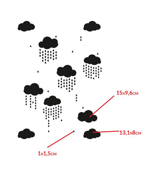 szablon-malarski-na-ścianę-chmurka-chm,urki-kropla-kropelki-deszcz-004