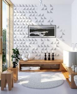 trójkąty na ścianę