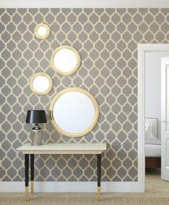 marokański wzór na ścianie