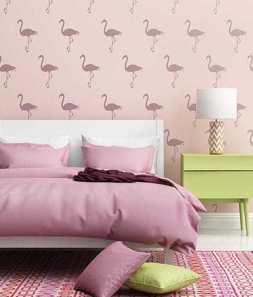 szablon flamingi