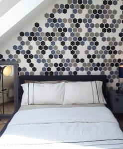 heksagony na ścianę