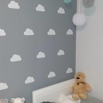 szablon malarski chmurki na ścianę