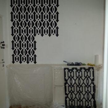szablon downing gate podczas malowania