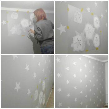 Malowanie szablonem malarskim ściany