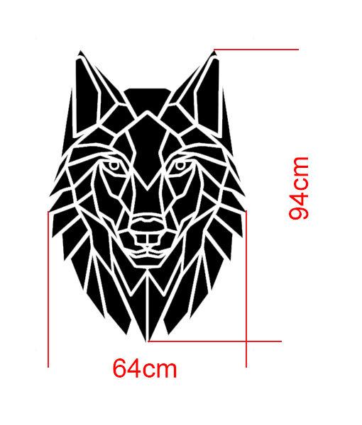 szablon malarski wilk