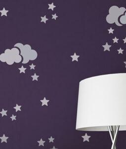 szablony gwiazdki i chmurki