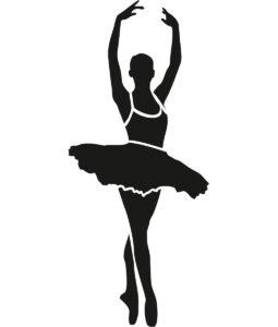 Szablon malarski baletnica