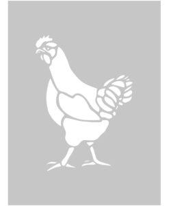 Szablon malarski kura