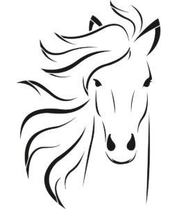 Szablon malarski koń na scianę