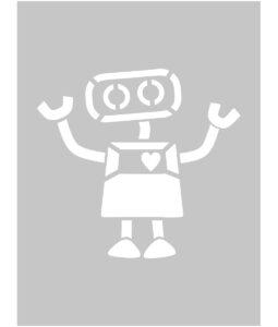 Szablon malarski robot na scianę
