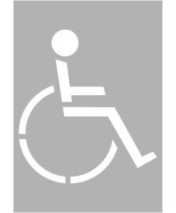 Szablon malarski inwalida