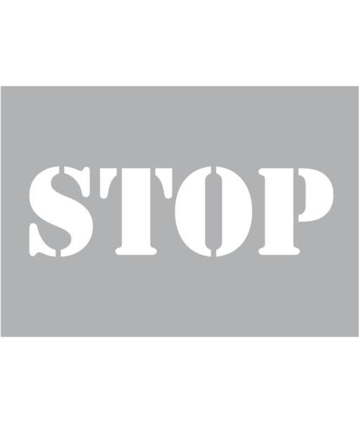 Szablon malarski STOP wielorazowy