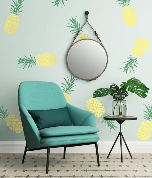 Szablon malarski ananas na ściane