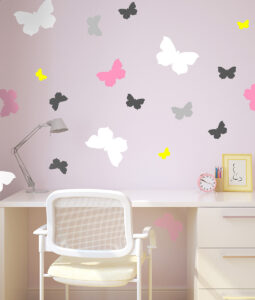 Szablon malarski motyle na ściane