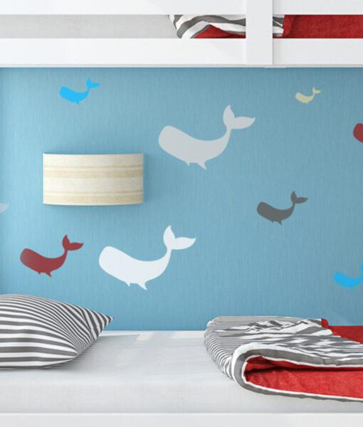 Szablon malarski wieloryby dla dzieci